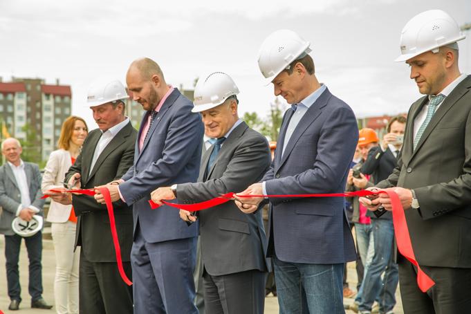 Торжественное завершение строительства первого этапа Питерского проспекта в пос. Новоселье фото 0