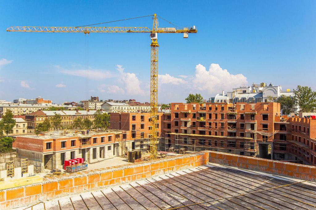 ход строительства жилого комплекса OSTROV за Август 2016 год  - Строительный трест
