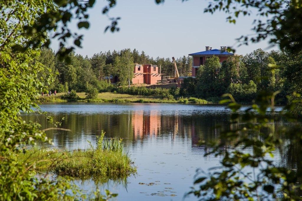 ход строительства жилого комплекса Озёрный край за Июль 2015 год  - Строительный трест