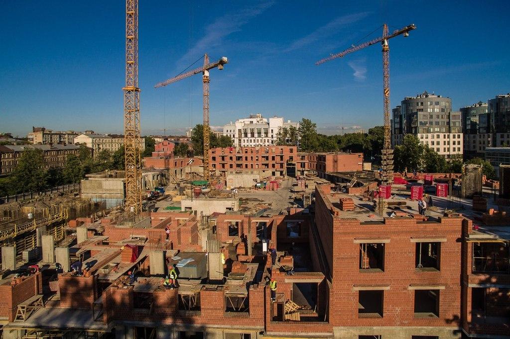 ход строительства жилого комплекса OSTROV за Июнь 2016 год  - Строительный трест