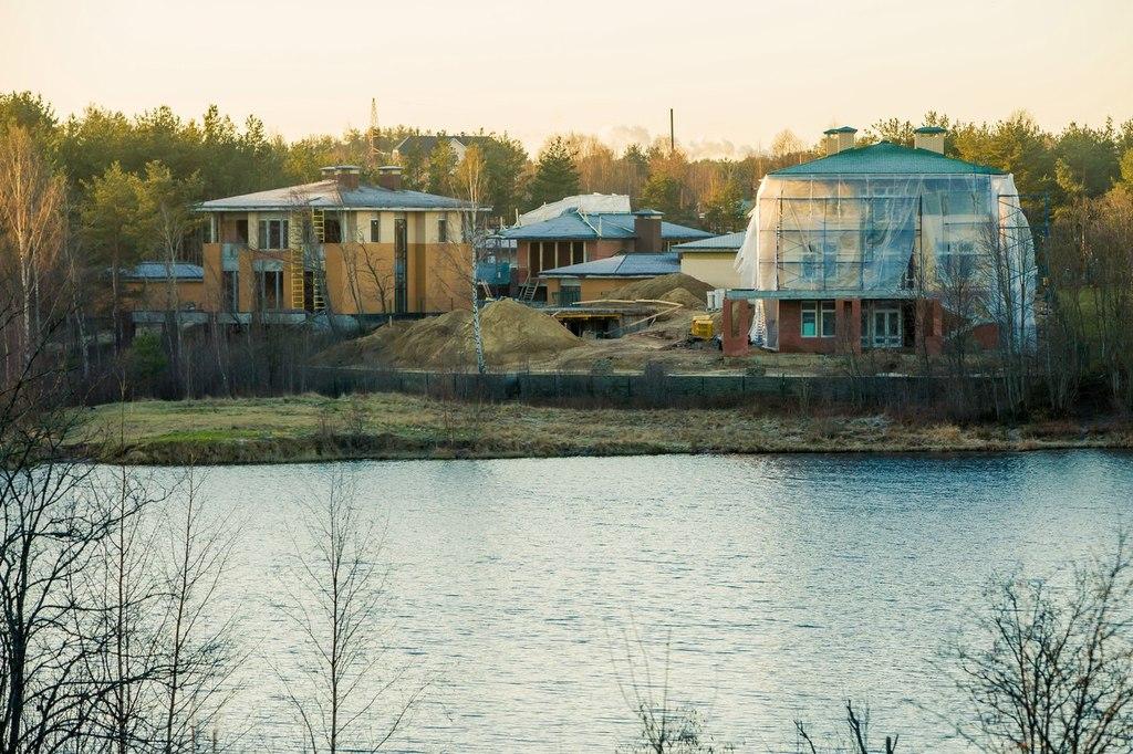 ход строительства жилого комплекса Озёрный край за Декабрь 2015 год  - Строительный трест