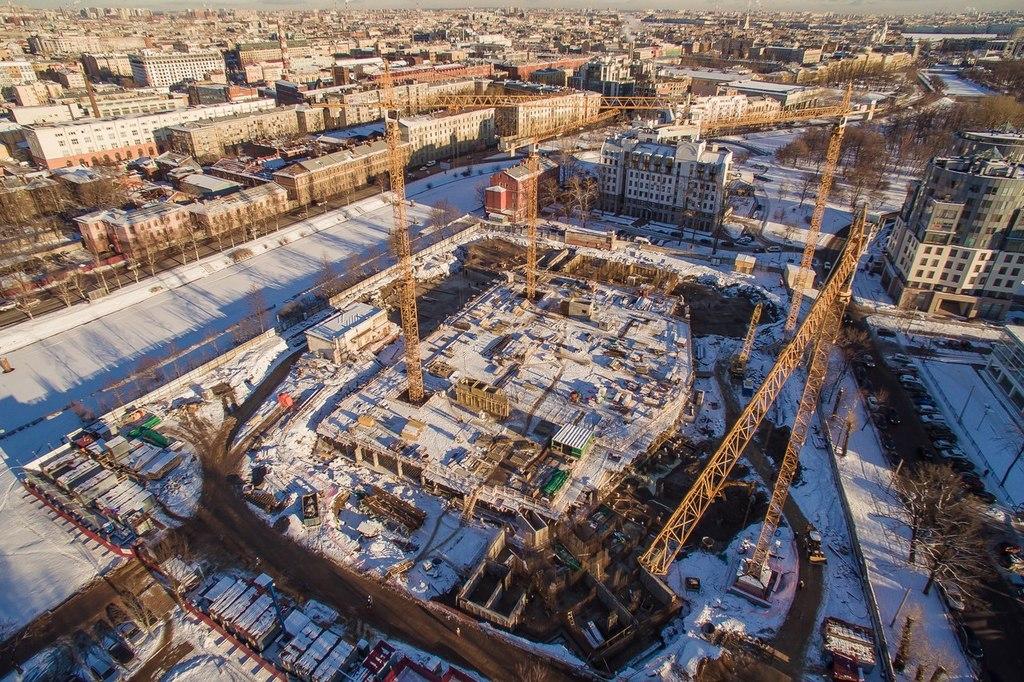 ход строительства жилого комплекса OSTROV за Февраль 2016 год  - Строительный трест