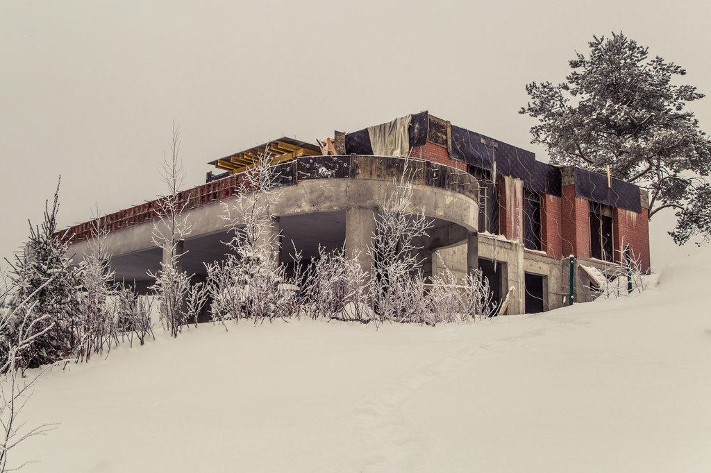 ход строительства жилого комплекса Озёрный край за Февраль 2016 год  - Строительный трест