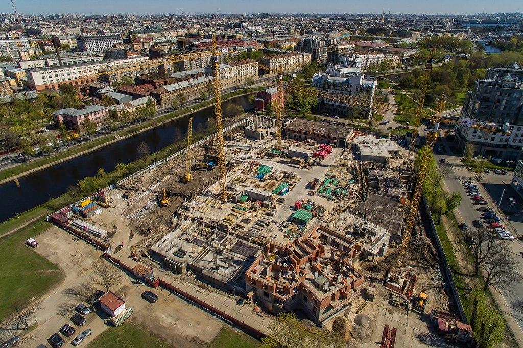 ход строительства жилого комплекса OSTROV за Май 2016 год  - Строительный трест
