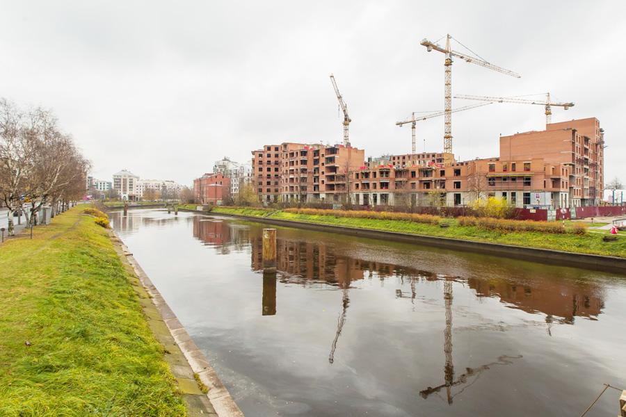 ход строительства жилого комплекса OSTROV за Октябрь 2016 год  - Строительный трест