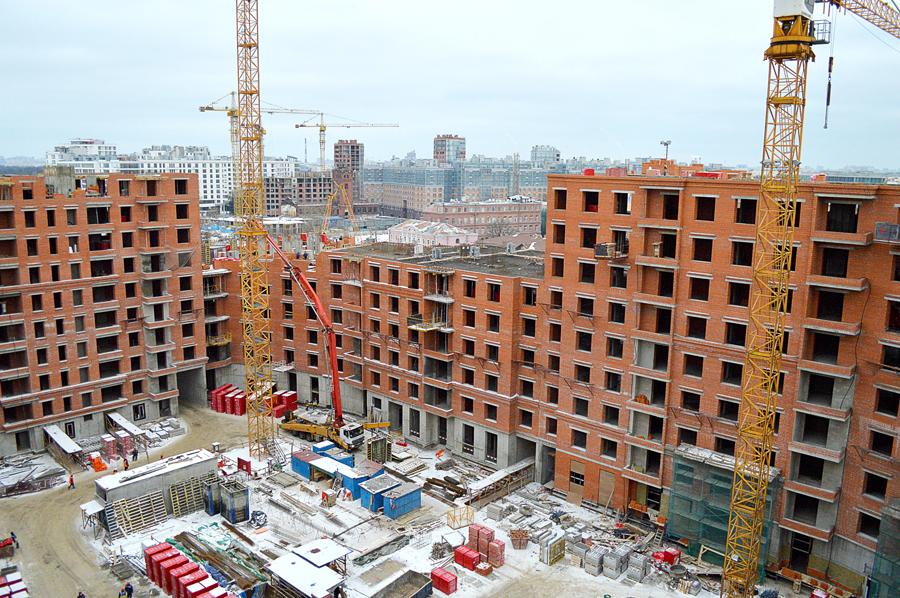 ход строительства жилого комплекса OSTROV за Январь 2017 год  - Строительный трест
