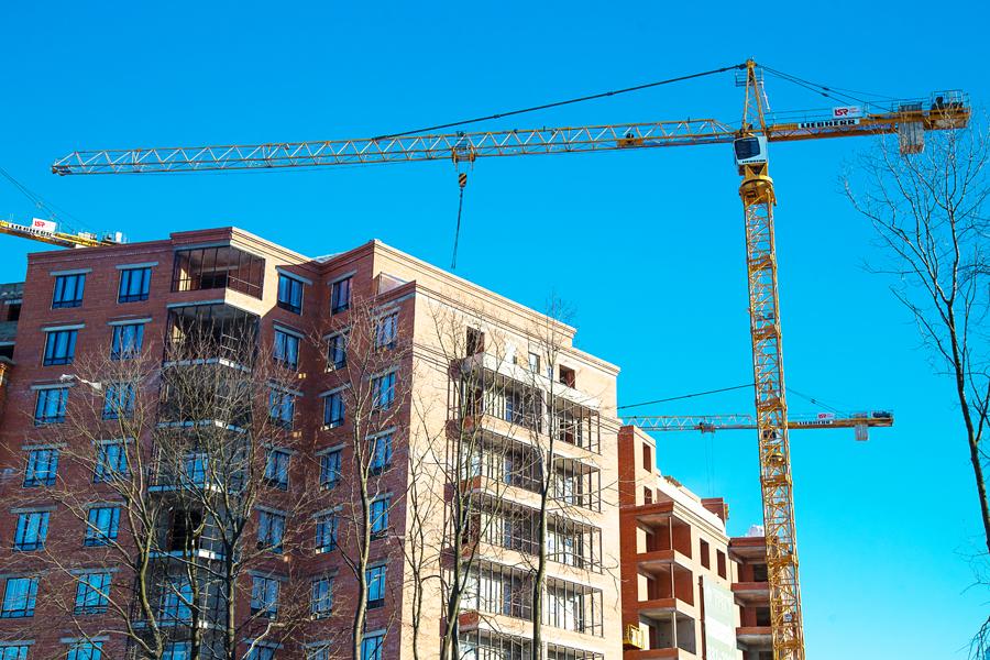 ход строительства жилого комплекса OSTROV за Февраль 2017 год  - Строительный трест