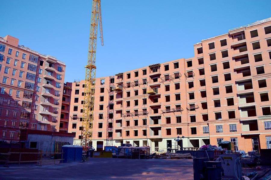 ход строительства жилого комплекса OSTROV за Март 2017 год  - Строительный трест