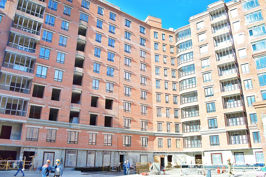 ход строительства жилого комплекса OSTROV за Апрель 2017 год  - Строительный трест