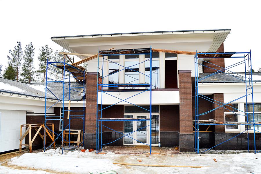 ход строительства жилого комплекса Озёрный край за Апрель 2017 год  - Строительный трест