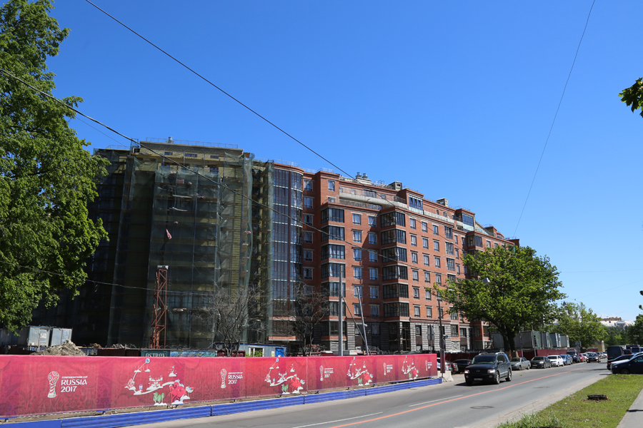 ход строительства жилого комплекса OSTROV за Июнь 2017 год  - Строительный трест