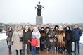 Возложение цветов к Пискаревскому мемориалу в годовщину снятия блокады Ленинграда, 27 января 2015 года фото 10