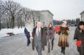 Возложение цветов к Пискаревскому мемориалу в годовщину снятия блокады Ленинграда, 27 января 2015 года фото 14