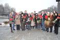 Возложение цветов к Пискаревскому мемориалу в годовщину снятия блокады Ленинграда, 27 января 2015 года фото 18
