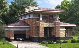 Двухэтажный коттедж в классическом стиле в поселке Сад времени