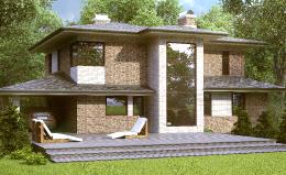Двухэтажный коттедж в поселке Сад времени