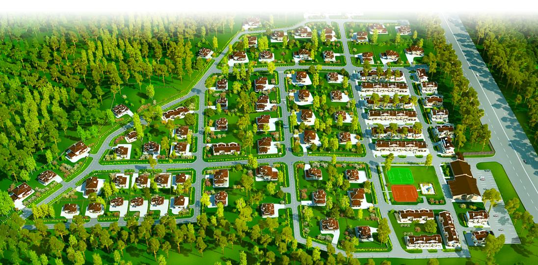 Генеральный план коттеджного посёлка Небо